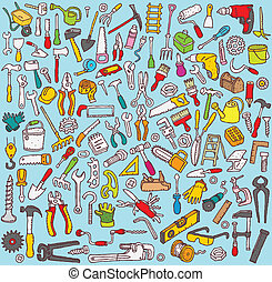 Big Tools Collection of numerous fine small hand drawn...