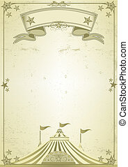 Big Top circus letter - A new old poster with a big top.