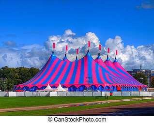 Big Top Circus Tent in Bright Colors - Huge Big Top Circus...