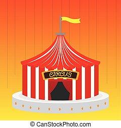 Big top illustration. Circus text - Vector illustration