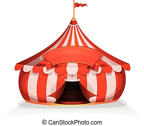 Big Top Little Circus Tent With Banner - Illustration of...