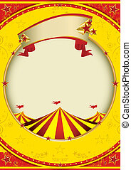 big top of fiesta - A red and yellow background with a big...