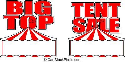 Big Top Tent Sign - Cartoon vector sign for big top tent ...