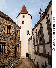 Big tower of Krivoklat Castle