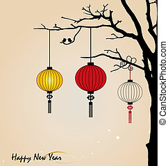 Big traditional chinese lanterns will bring good luck and...