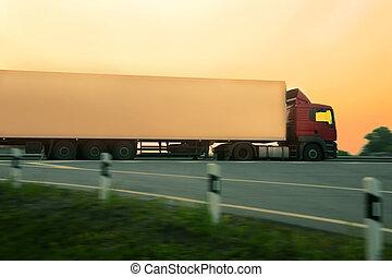 trailer goes on motorway
