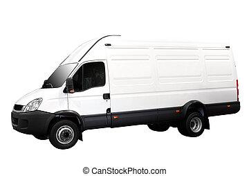 big transport van isolated