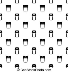Big trashcan pattern vector