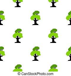 Big tree pattern flat