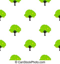 Big tree with fruit pattern flat