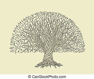 Big tree with roots for your design