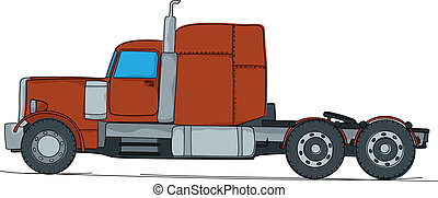 Big truck cartoon