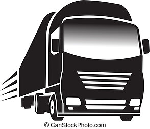 Big Truck. Concept of transportation and cargo logo