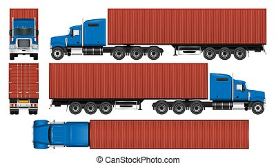 Big truck container template