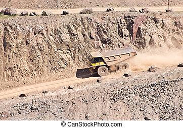 Big truck in quarry