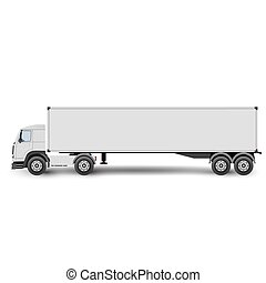big truck tractor for transportation cargo vector...