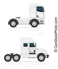 big truck tractor for transportation cargo vector illustration