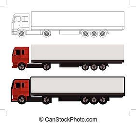big truck set of three