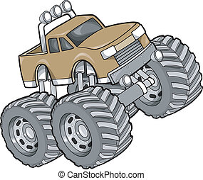 Big Truck Vector Illustration
