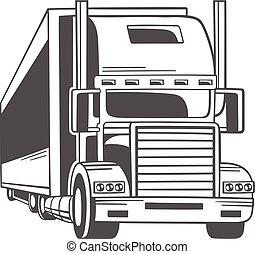 Big truck. Vector illustration.