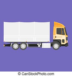 Big truck with cargo