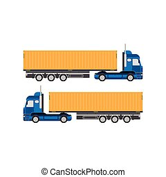 Big truck with container vector illustration.