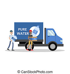 Big truck with water