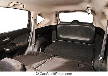 Big trunk of SUV car