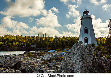 Big Tub Lighthouse in Tobermory, Ontario, Canada