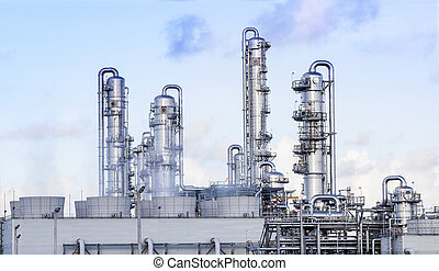 big tube in refinery petrochemical plant in heavy industry...