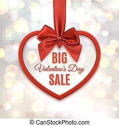 Big Valentines day sale poster.
