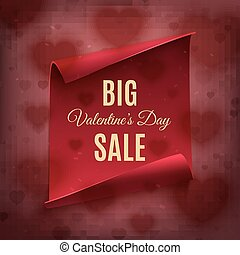 Big Valentines day sale, poster template.