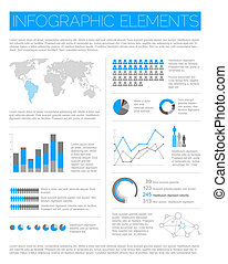 Big Vector set of Infographic elements