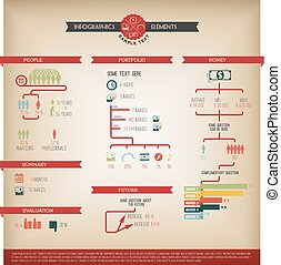Big Vector set of Infographic element