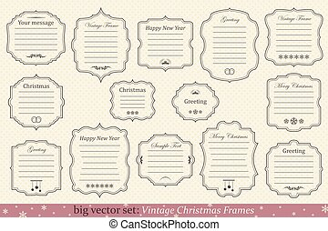 Vector Set of vintage christmas frames