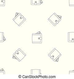 Big wallet pattern seamless vector