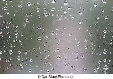 drop on the glass a blurred background