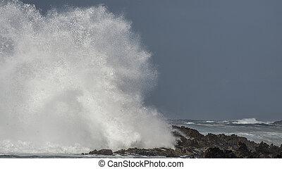 Big Wave Brakes on Rocks