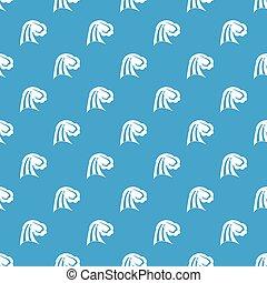 Big wave pattern seamless blue