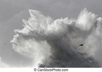 Big wave splash