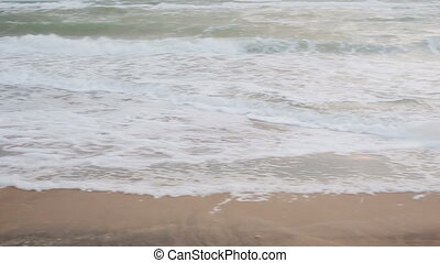 Big waves during a storm in the coast