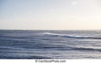 big waves on the sea