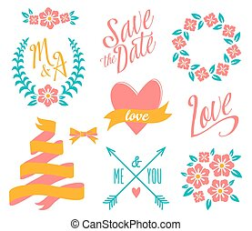 BIG Wedding graphic set