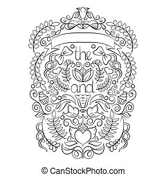 Big wedding graphic set, laurel, wreaths, arrows, ribbons, hearts, flowers, birds and labels in vector.