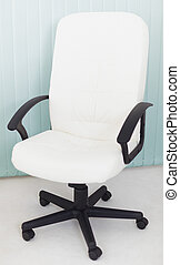 Big white office leather armchair for the chief