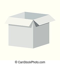 Big white open box template. Packaging for gifts