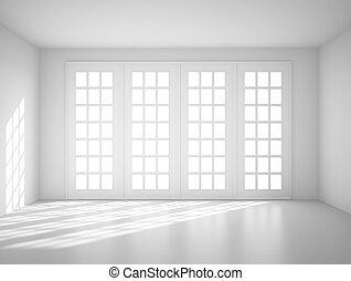 light white room with big window