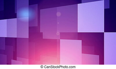 """Big White Squares in Violent Background"" - ""An abstract 3d..."