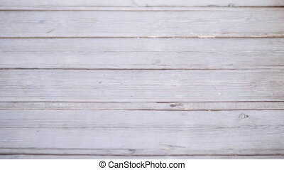 Big White wooden plank wall texture background with place ...