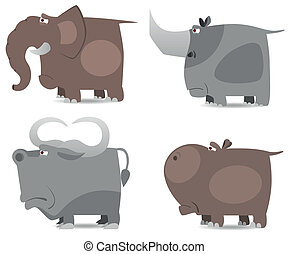 Big wild animals set